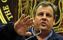 Gov. Christie gives emotional account of N.J. damage from Sandy