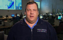 "N.J. Gov. Christie on Sandy: ""My worst fear is loss of life"""
