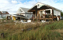 Clean up from Sandy begins around Atlantic City