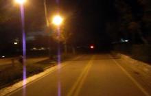 Nighttime bike ride through blacked-out lower Manhattan