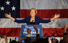 Elizabeth Warren thanks supporters in victory speech