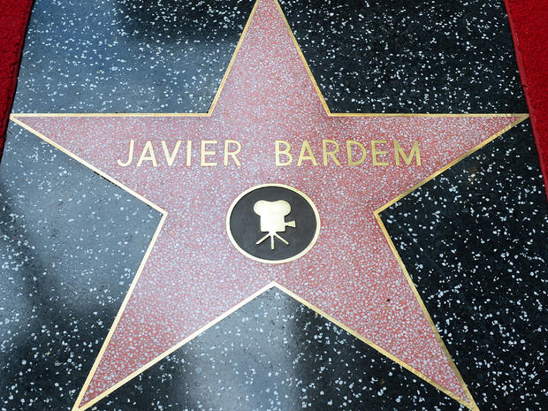 Javier Bardem receives Hollywood star