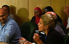 Clarissa Ward fights to ask question at Hamas presser