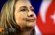 Clinton heads to Mideast as strikes continue