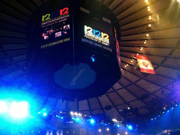 12-12-12 benefit concert: Behind the scenes