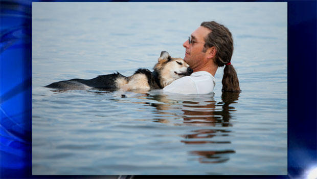 John Unger和他的狗,Schoep。