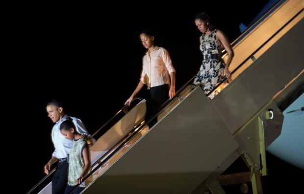 The Obamas in Hawaii
