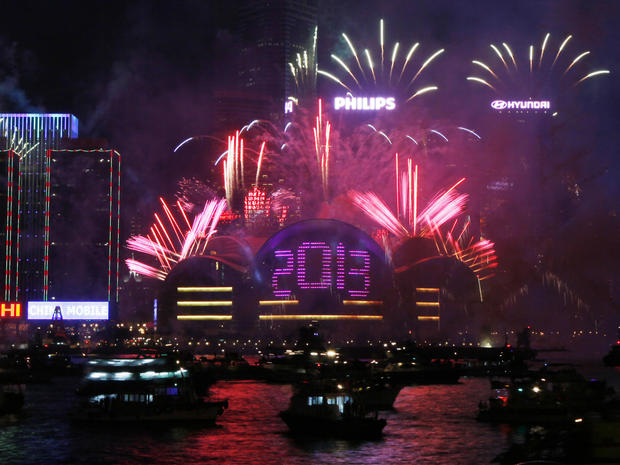 The world rings in 2013
