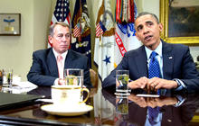"Obama optimistic for ""fiscal cliff"" deal"