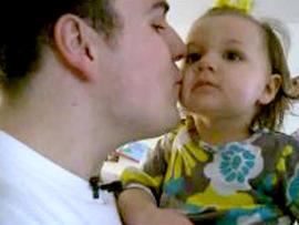 Ryan Garcia and his daughter.