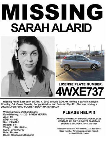Calif. teen missing since New Year's Day