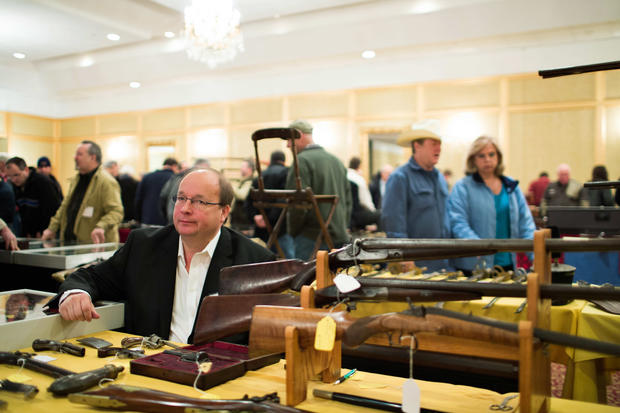 Gun show held in Stamford, Conn.