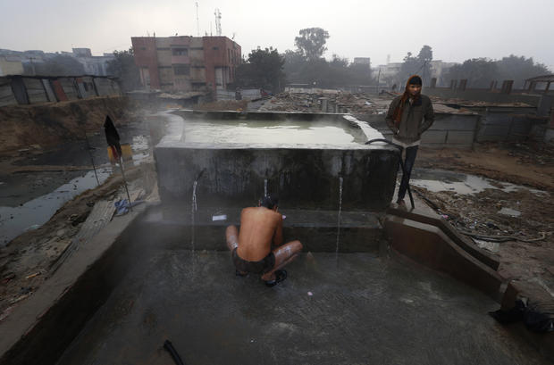 Cold and homeless in India