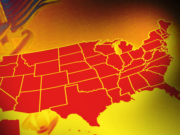 16 happiest states of 2012