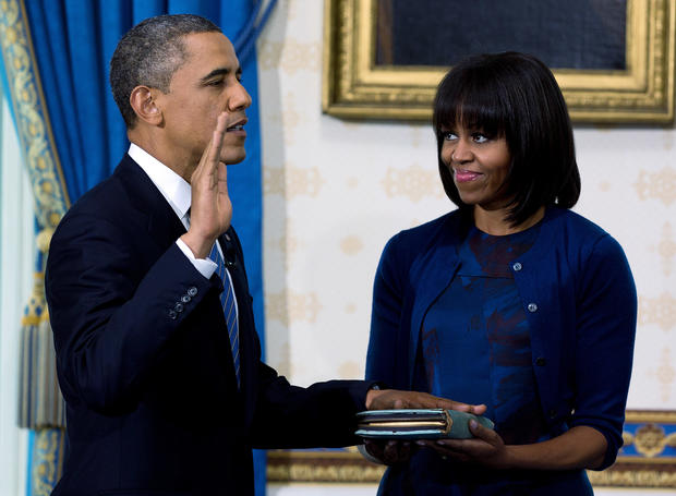 President Obama takes oath of office