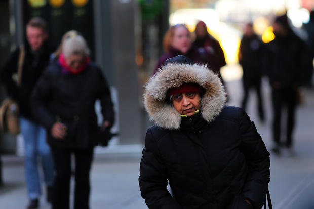 Frigid temperatures blast north east