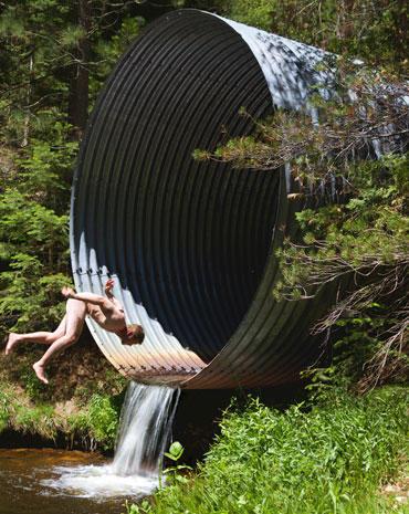 Artist creates epic falls
