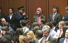 """Kerry: """"I respect"""" protester who interrupted hearing"""