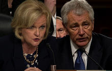 "Hagel: ""Absolutely"" all options on table confronting Iran"