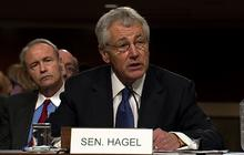 Hagel defends his record
