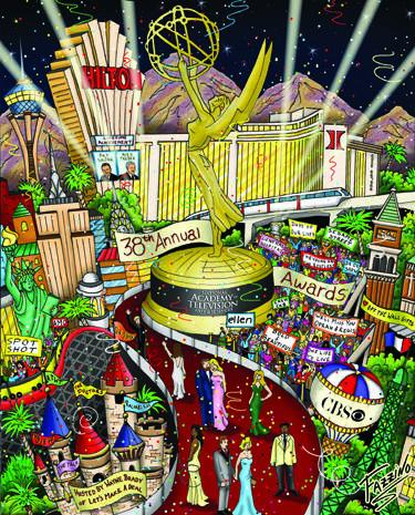 Super Bowl artist Charles Fazzino