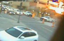 Kansas City explosion caught on tape