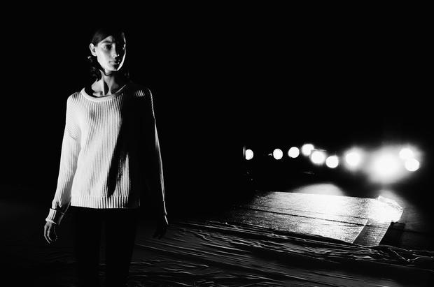 Paris Fashion Week in black and white