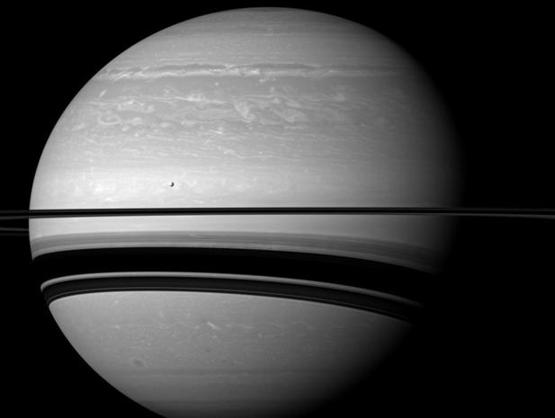 Spectacular raw images of Saturn's moons