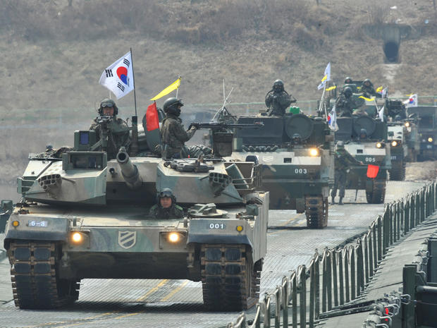 south korea, tanks, military drill