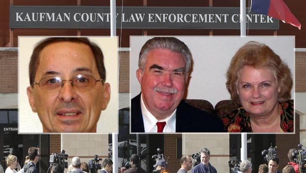 Assistant District Attorney Mark Hasse, left, and District Attorney Mike McLelland and his wife Cynthia, right.