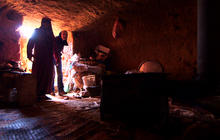 Syrians seek refuge in ancient Roman caves