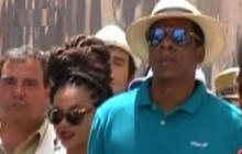 Beyonce, Jay-Z mobbed by fans while eating in Cuba