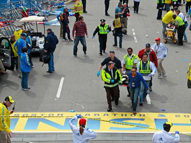 Explosions near Boston Marathon finish line