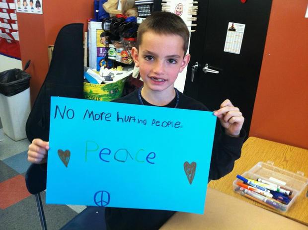 波士顿马拉松爆炸案受害者马丁·理查德的Undated学校Facebook照片