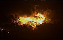 RAW: Flames engulf home in West, Texas after plant explosion