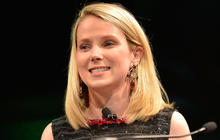 Yahoo's earnings rise, ad revenue drops under Marissa Mayer