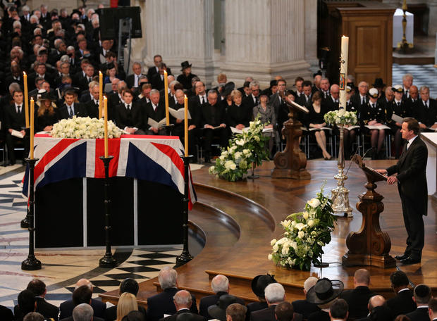 Thatcher laid to rest in London
