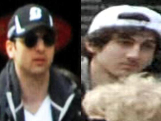 Two men identified by the FBI as suspects in the Boston Marathon bombings