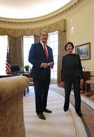 George W. Bush, Laura Bush open up, offer tour of new Bush Center