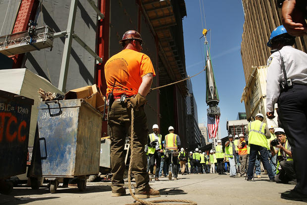 One World Trade Center reaches full height