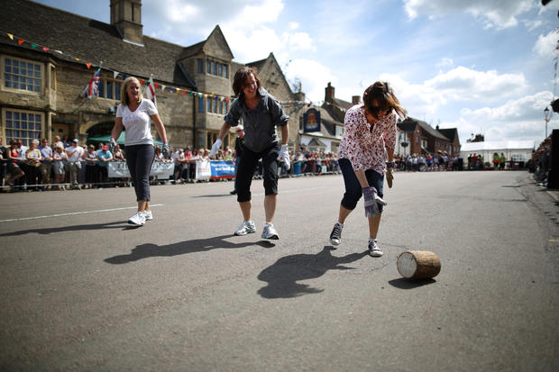 A cheesy celebration in an English village