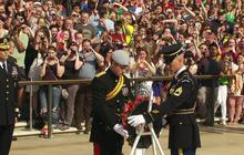 Prince Harry lays wreath at Tomb of the Unknowns