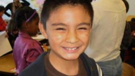 Rodrigo Guzman, 10, was deported when his family's tourist visa expired.