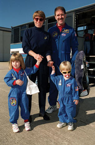Astronaut family portraits