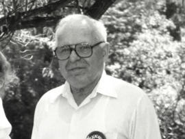 In May 22, 1990 image shows Michael Karkoc, photographed in Lauderdale, Minn. prior to a visit to Minnesota from Soviet President Mikhail Gorbachev in early June of 1990. Karkoc, a top commander whose Nazi SS-led unit is blamed for burning villages filled with women and children lied to American immigration officials to get into the United States and has been living in Minnesota since shortly after World War II, according to evidence uncovered by The Associated Press.