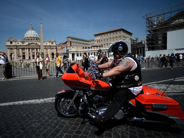 Pope Francis blesses Harley-Davidsons