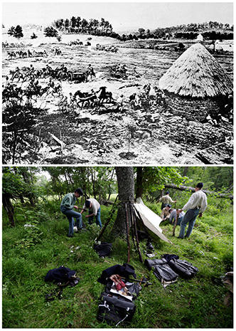 Gettysburg: Then and now