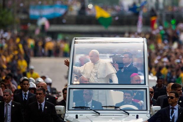 Pope Francis arrives in Brazil