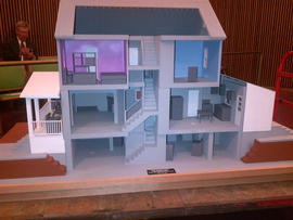 Prosecutors are expected to show this model of Ariel Castro's Cleveland home during his sentencing for keeping three women captive and subjecting them to years of sexual and physical abuse.