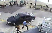 Scenes from the Venice boardwalk car rampage